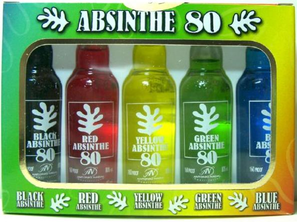 Pack 5 Absinthes