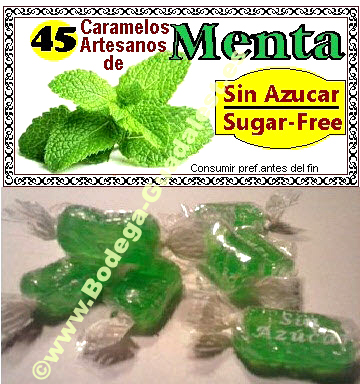 Mint candies without sugar