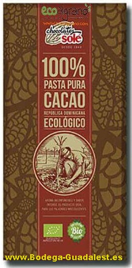 Black chocolate 100%, organic