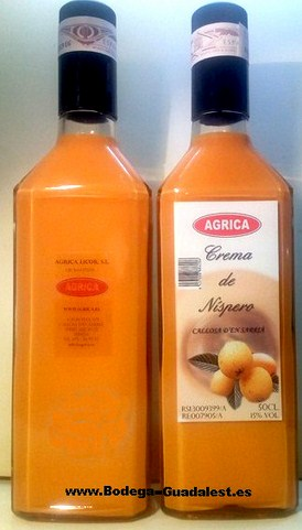 Cream of loquat 50 cl.tall bottle