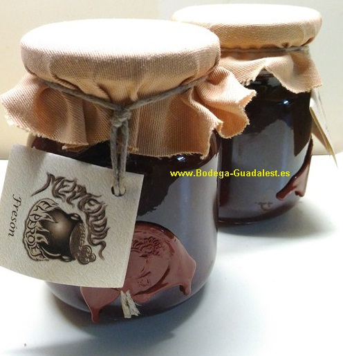 "Strawberry jam,<font color=""#ff0033"">Guadalest</font>"