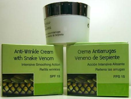 Anti-Wrinkle Cream with Snake Venom